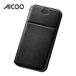 Retail packaging foR cell phone cases online shopping - AICOO DD Business Universal Cell Phone Case PU Leather Waterproof with Card Pocket Kickstand Phone Cases for iPhone Android Retail Package