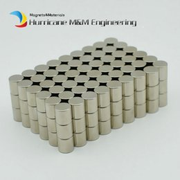 "Wholesale Neodymium Magnet Cylinder Australia - 200pcs Ndfeb Magnetic Disc Dia 8x8 Mm 0.31"" Cylinder N42 Rod Strong Neodymium Magnets Rare Earth Permanent Lab Magnets Sensor"
