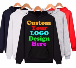 Custom Sized Photo Prints NZ - Custom Hoodies Logo Text Photo Print Men Women Personalized Team Family Customize Sweatshirt Polluver Customization Clothes