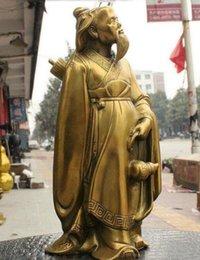 Ancient stAtues online shopping - Chinese Brass Ancient Poet Libai Li Bai li po Drink Wine Gourd Cucurbit Statue