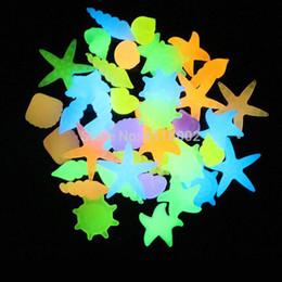 1000 pezzi conchiglia d'oro pietre luminose fish tank decorazione bagliore nel giardino scuro Decor Pebble Rocks Aquarium Mix Color