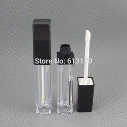 $enCountryForm.capitalKeyWord Australia - Free shipping 8ml lip gloss tubes,Black cap,Square Lip stick packing container,Empty DIY lip balm bottle 50pcs lot