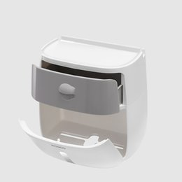 $enCountryForm.capitalKeyWord Australia - New Double Layered Tissue Box Shelving Toilet Paper Box Holder Wall Mounted Paper Storage Toilet Tissue Holder Punch Free