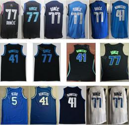 2019 All Star Luka 77 Doncic Jersey Basketball Dirk 41 Nowitzki Jason 5  Kidd City Edition Navy Blue White Black For Sport Fans 76925beab
