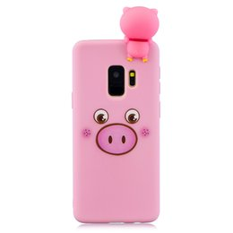 Bar Paintings UK - For Samsung S9 plus 3D Cute Coloured Painted Animal TPU Anti-scratch Non-slip Protective Cover Back Case