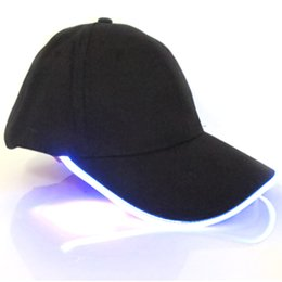 2ef576a2a82 Wholesale Lighted Hats Caps UK - Outdoor Multifunctional LED Lighted  Fishing Hat Hip-Hop Adjustable