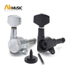 Chinese  Black Left and right hand Locked String Guitar Tuning Pegs Folk Acoustic Electric Guitar Tuners Machine Head manufacturers