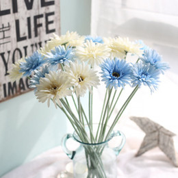 $enCountryForm.capitalKeyWord Australia - Wedding Decorative Flower Artificial Daisy Silk Flower Gerbera Fake Plants African Daisy Flowers Bouquets for Home Decoration
