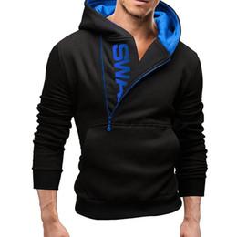 wholesale stylish jackets 2019 - newest Stylish Men's Slim Warm Hooded Sweatshirt Zipper Coat Jacket Outwear discount wholesale stylish jackets
