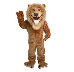 ivory fancy dress UK - High quality hot Lion Mascot Costume adult size brave Lion cartoon Costume Party fancy dress factory direct sale