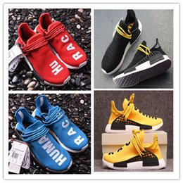 95a74a390 Nmds Human Race Pharrell Williams x Best Quality Hu Runner Friends Family  Red Blue Yellow Black Women Men Runing Shoes Sport Sneaker