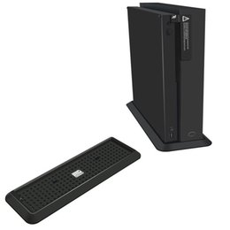 wholesale xbox one consoles NZ - Anti-Slip Vertical Stand Bed Foundation Mount Bracket Support Base Holder for Xbox One X OneX Game Console STAND Storage