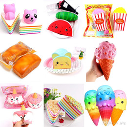 $enCountryForm.capitalKeyWord NZ - Hamburger Squishy Cake Ice Cream doll Squishy Slow Rising Sweet scented Charms Food Squishies rebound Bread Kids Toys Decompression Toy
