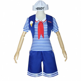 fremde dinge kostüme großhandel-Stranger Things Staffel Ice Cream Shop Sales People Navy Uniform Cosplay für Halloween Party Kostüm