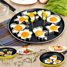 egg shaper UK - Fried Egg Rings Mold Stainless Steel Fried Egg Shaper Egg Pancake Shaper Maker Repeatable Fried Pancake Ring Kitchen Cooking Tool