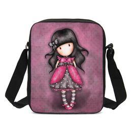 758bf74bc30e Cute Cartoon Girl 3D Printing Luxury Handbags Women Bags Girls Small Sling  Bags School Crossbody Purse Hand Bag Sac A Main
