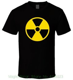 Radiation Clothes NZ - Radiation Symbol 1 Men T Shirt Brand Cotton Men Clothing Male Slim Fit T Shirt