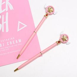 $enCountryForm.capitalKeyWord Australia - 1Pcs Cute Pink Pen Anime Star Popular Anime Cardcaptor Sakura Star Key Ballpoint Ball Pen Ballpen School Stationery