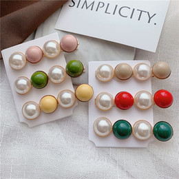 clamp beads NZ - Pearl Hair Clip Vintage colorful bead Headwear Women Bangs Clips Clamp Hairpins Hair Accessories Jewelry Styling Tool