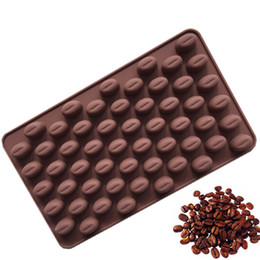 decorating coffee tools Australia - High Quality Silicone 55 Cavity Mini Coffee Beans Chocolate Sugar Candy Mold Mould Cake Decorating Tools DIY Baking Mold