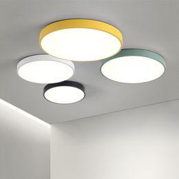 Altura 5 CM Luces de techo Color Macaron en forma redonda Iluminación Lámpara de techo Accesorio para sala de estar Dormitorio pasillo Decoración para el hogar en venta