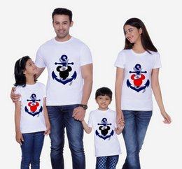mouse clothes 2019 - Mouse Anchor T-Shirt Family Matching Clothes Mommy and Me Clothes Anchor Shirt Boys Head Short Sleeve T-Shirt discount m