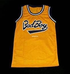 ba09fd7ca8b Cheap Mens BIGGIE SMALLS  72 BAD BOY NOTORIOUS BIG BASKETBALL JERSEY SEWN  NEW ANY SIZE Retro Basketball Jerseys NCAA College