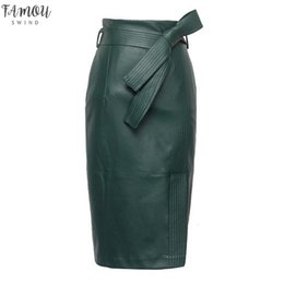 Fashion belts applique online shopping - 3xl xl Pu Leather Skirt Women Plus Size Autumn Winter Sexy High Waist Faux Leather Skirts Womens Belted Fashion Pencil Skirt