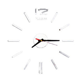 China Wall Clock DIY Large Number Wall Clock 3D Mirror Surface Modern Home Office Art Decoration Drop Shipping supplier calendar numbers suppliers