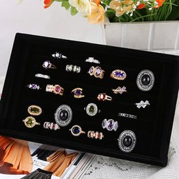 wood ring storage box NZ - Ring Earrings Organizer Ear Studs Display Stand Holder Rack Tray Plate Box Case Bracelet Bangle Woman Rings Men Ear Stud Storage