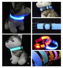 $enCountryForm.capitalKeyWord Australia - Nylon LED Pet Dog Collar,Night Safety Flashing Glow In The Dark Dog Leash,Dogs Luminous Fluorescent Collars Pet Supplies