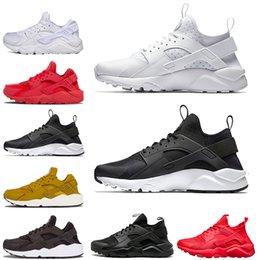separation shoes 7fd69 85c1e Günstige Huarache 4.0 1.0 Sneaker für Herren Damen Laufschuhe Triple Black Huaraches  Breathable Trainer Outdoor Schuhe Größe 36-45