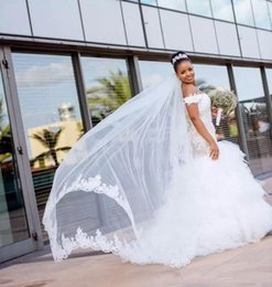 $enCountryForm.capitalKeyWord Australia - Gorgeous Mermaid Wedding Dresses With off Shoulder south African Lace Tulle Skirt Floor Length Custom Made Vestido De Novia