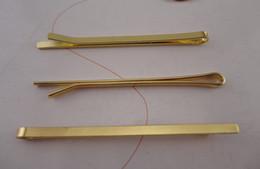 "$enCountryForm.capitalKeyWord UK - 50PCS 2.6mm*5.5cm 2.15"" Golden plain Metal Bobby Pins Hair slide for Handmade Hair Accessories at nickle free,lead free"