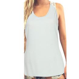 $enCountryForm.capitalKeyWord Australia - Women Cotton Stripe Blouse Sexy Lace Dress Summer Vest Top Girls Sleeveless O neck Tops Plus size Sexy Shirt blusa mujer