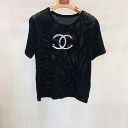 125 2019 Spring Brand Stesso stile maglione corto Pullover bianco nero girocollo manica lunga Abbigliamento donna QIAN in Offerta