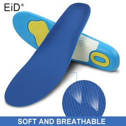 arch support shoe insole gel pads Australia - EID PU Shoe Insoles gel Orthotic Arch Support Pain Relief Sport Shoe Pad Soft Running Insert Cushion Free Size Men Women