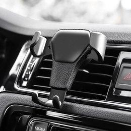 Опт Держатель мобильного телефона автомобиля силы тяжести вентиляционные кронштейн держатель для iphone мобильный телефон GPS