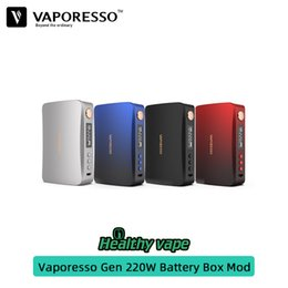 $enCountryForm.capitalKeyWord Australia - 100% original Vaporesso Gen TC Box Mod 220W Powered by Dual 18650 Batteries With Advanced AXON Chipset Vs rincoe mechman