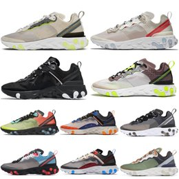 light womens running shoes Australia - Discount React Element 87 Undercover Men Running Shoes Anthracite Sail Light Bone Hyper Fusion Womens Mens Designer Trainers Ourdoor shoes