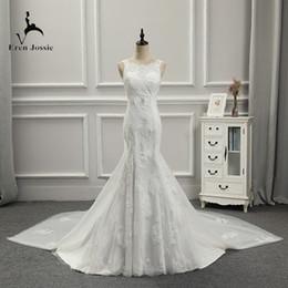 $enCountryForm.capitalKeyWord Australia - Eren Jossie Latest Fashion Wholesale Price Ivory Bridal Wedding Dress Mermaid Design with Detachable Train Stunning Gown