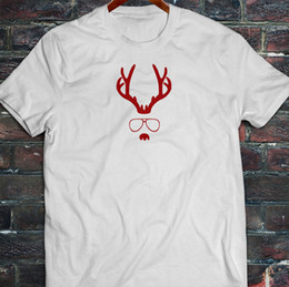 Reindeer Nose Australia - Red Nose Reindeer Merry Christmas Glasses Santa Mens White T-Shirt Tees Shirt Men Man's Casual Short Sleeve Crewneck Cotton XXXL Men's Camis