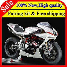 Fairings For Mv Agusta Australia - Body For MV Agusta F4 05 06 R312 750S 1000 R 750 Pearl White 1000CC 13HT8 1000R 312 06 1078 1+1 MA MV F4 2005 2006 05 06 Fairing Bodywork