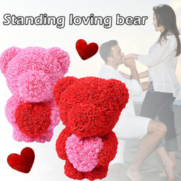 PE Rose Bear Girlfriend Birthday Toy Romantic Gift ValentineS Day Love Artificial Lovely Simulated Dolls Decorations