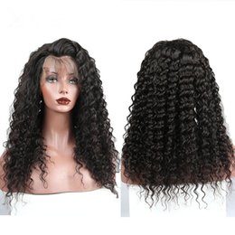 $enCountryForm.capitalKeyWord Australia - Preuvian Hair Deep Wave Full Front Lace Human Hair Wigs with Bleached Knots Natural Hairline Popular Fast Shipping