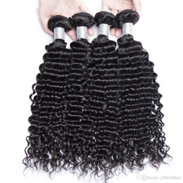 Discount weave packs - TFH Grade 9A Wholesale Malaysian Curly Hair Bundles Pack of 4 Unprocessed Remy Virgin Cheap Human Hair Weave Extensions