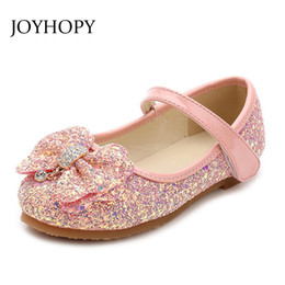 Dancing Shoes For Kids Australia - Children Princess Shoes New 2017 Girls Sequins Wedding Party Kids Baby Enfants Hot Shoes For Girls Pink Gold School Dance Y190523
