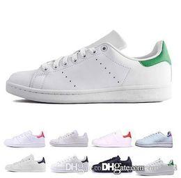 $enCountryForm.capitalKeyWord Australia - Cheap smith men women casual shoes green black white blue red pink silver mens stan fashion leather shoe classic flats sneakers size 36-44