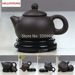 zisha teapot UK - High quality Handmade Purple Clay Tea Set Traditional Teapot Zisha Tea Service Chinese Kung Fu Tea Kettle Chinaware Made in China