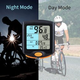 wireless waterproof bicycle odometer speedometer Canada - Bike Computer With LCD Digital Display Waterproof Bicycle Odometer Speedometer Cycling Stopwatch Riding Accessories Tool